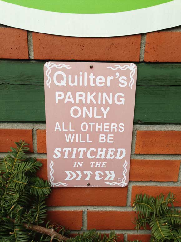 quilters-parking-sign
