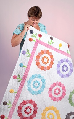 Sue & Sunshine Lollipops Quilt - Compressed
