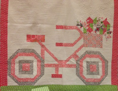 bicycle quilt gracie girl