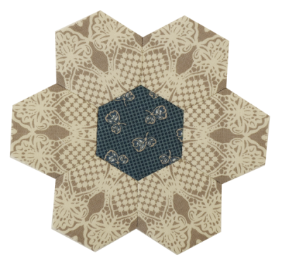Forget Me Not Centre Hexagon