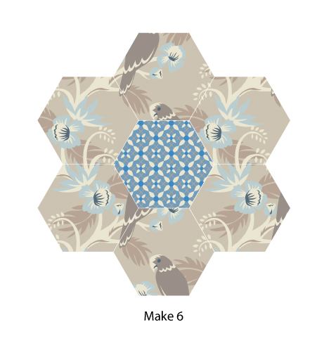 Forget Me Not Hexagon Flower
